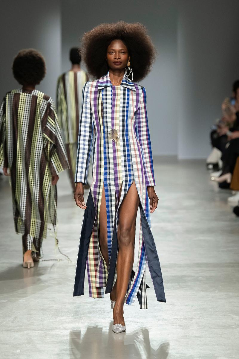 Kenneth Ize Fall/Winter 2020 Collection Runway Show Dress Fringe