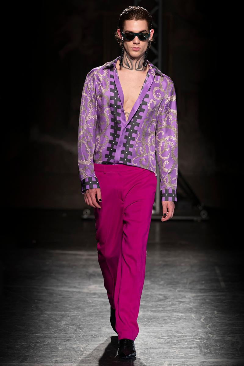 KOCHÉ x Emilio Pucci Fall/Winter 2020 Collection Runway Show Pants Magenta
