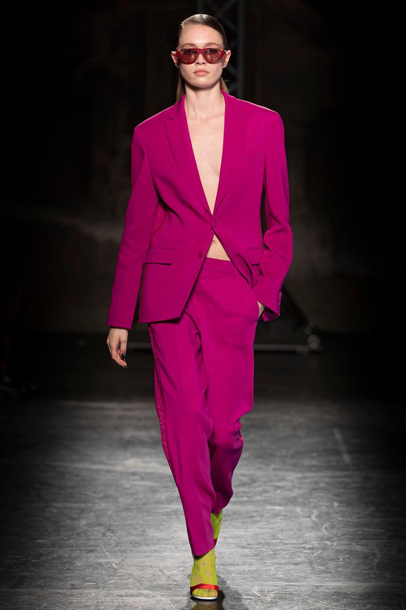 KOCHÉ x Emilio Pucci Fall/Winter 2020 Collection Runway Show Suit Magenta