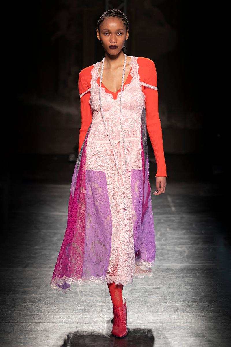 KOCHÉ x Emilio Pucci Fall/Winter 2020 Collection Runway Show Slip Dress Pink
