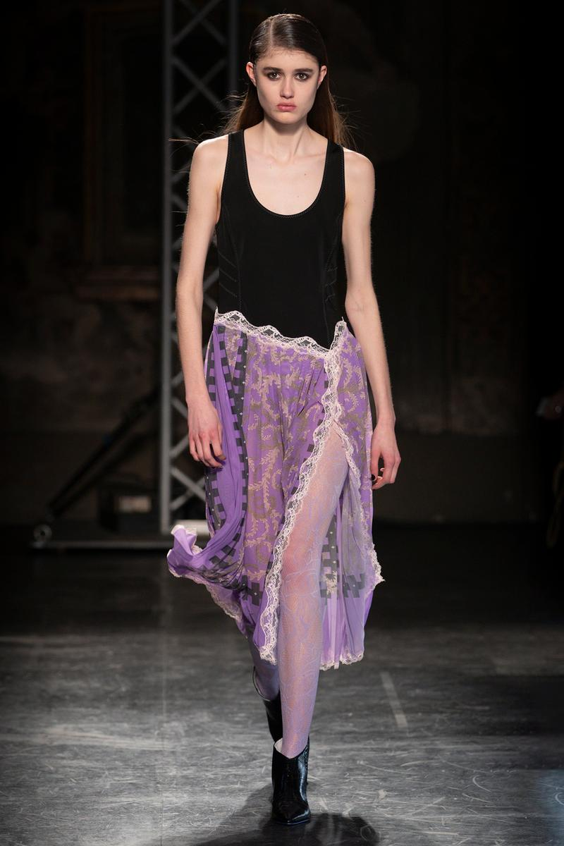 KOCHÉ x Emilio Pucci Fall/Winter 2020 Collection Runway Show Slip Dress Purple