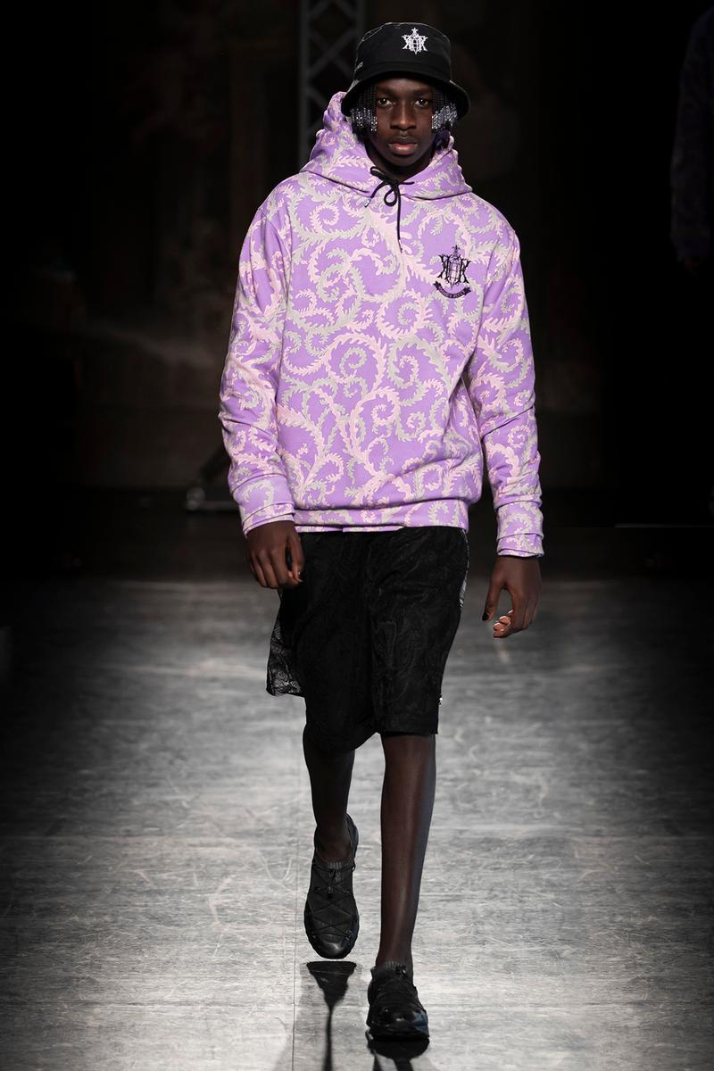 KOCHÉ x Emilio Pucci Fall/Winter 2020 Collection Runway Show Hoodie Purple