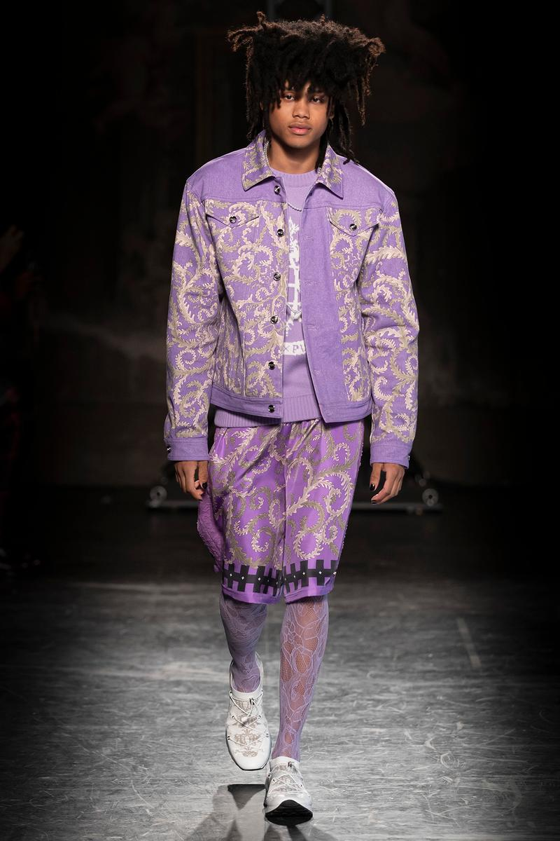 KOCHÉ x Emilio Pucci Fall/Winter 2020 Collection Runway Show Jacket Shorts Purple