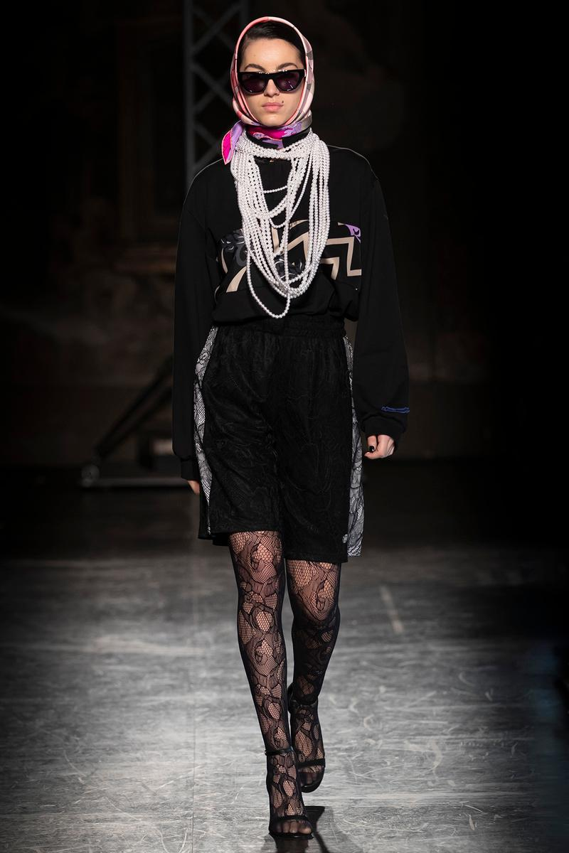 KOCHÉ x Emilio Pucci Fall/Winter 2020 Collection Runway Show Dress Black