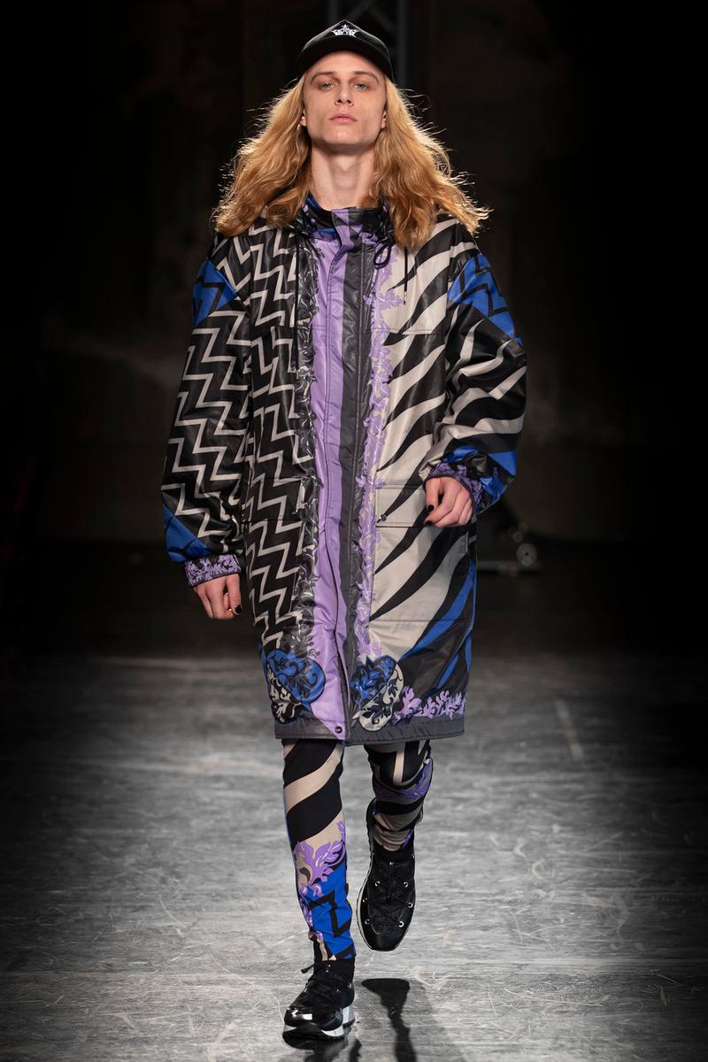 KOCHÉ x Emilio Pucci Fall/Winter 2020 Collection Runway Show Coat Print