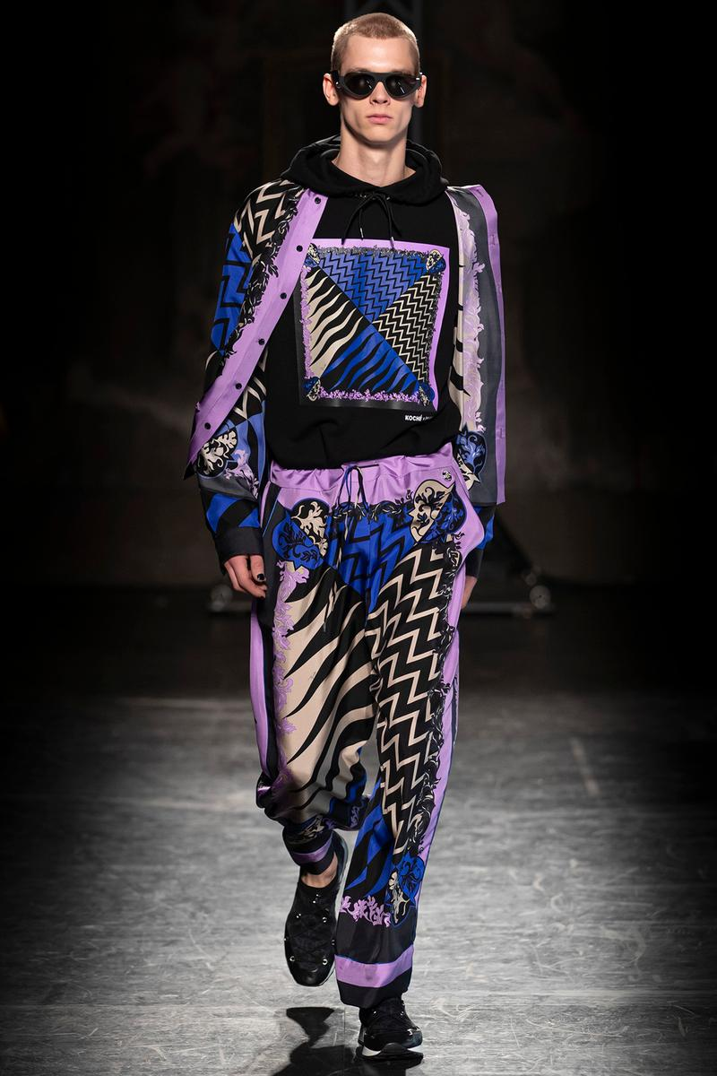 KOCHÉ x Emilio Pucci Fall/Winter 2020 Collection Runway Show Sweater Pants Print