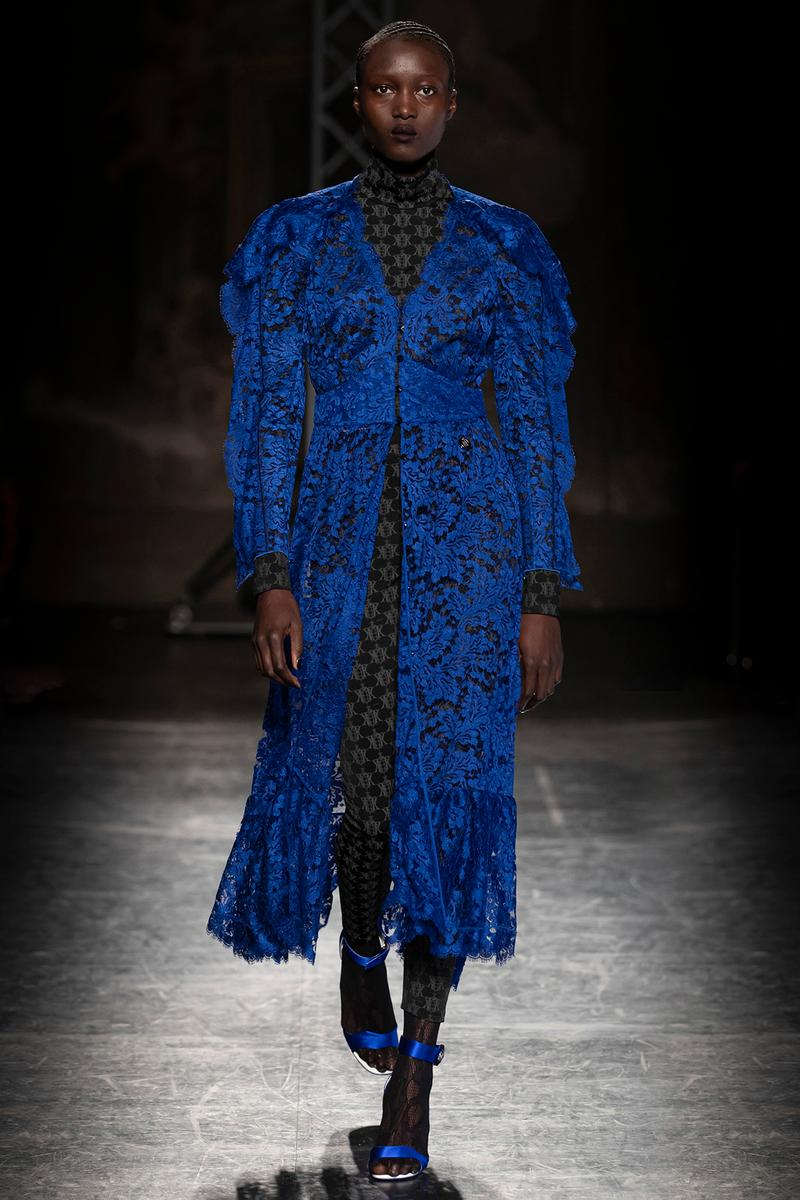KOCHÉ x Emilio Pucci Fall/Winter 2020 Collection Runway Show Coat Blue