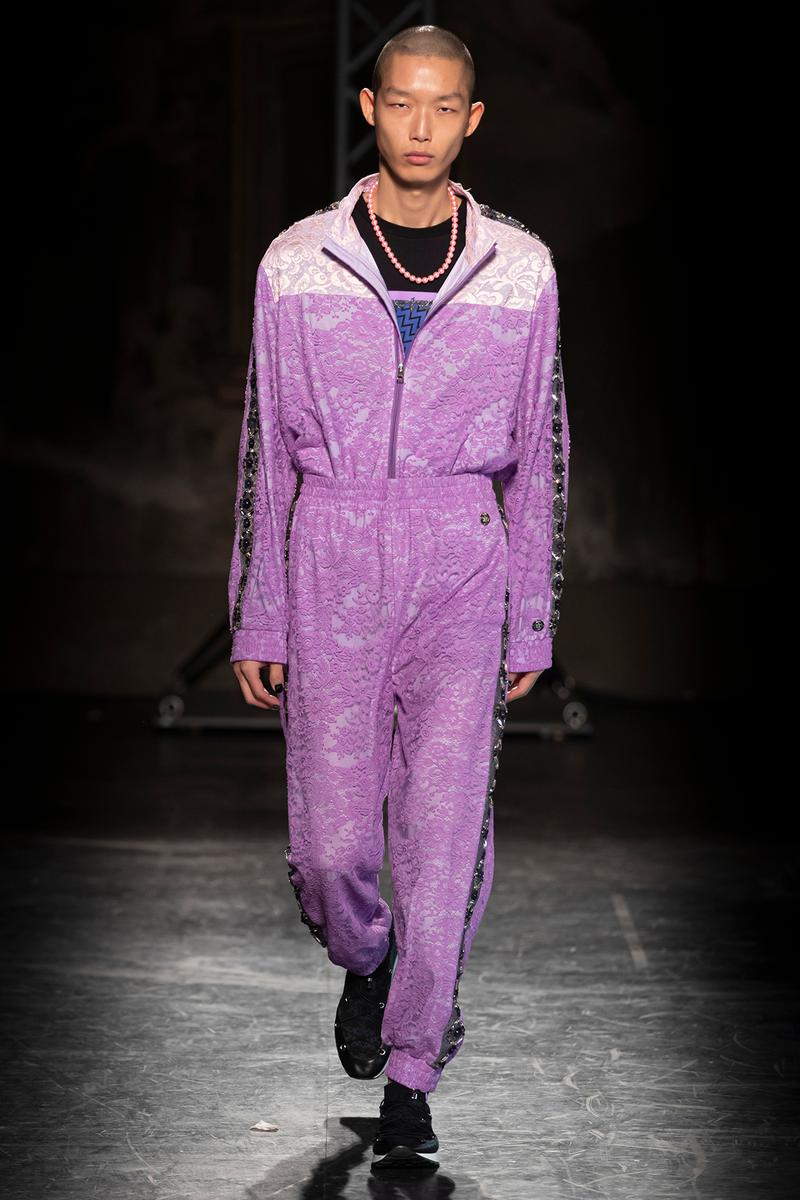KOCHÉ x Emilio Pucci Fall/Winter 2020 Collection Runway Show Tracksuit Purple