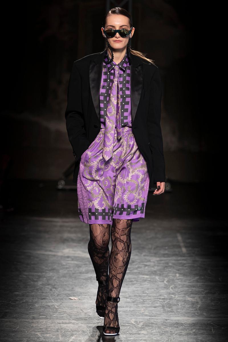 KOCHÉ x Emilio Pucci Fall/Winter 2020 Collection Runway Show Dress Purple