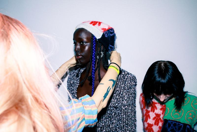 Ashley Williams Fall/Winter 2020 Backstage Collections Beauty Bleach London Hair Makeup London Fashion Week