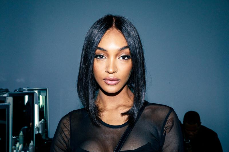 Jourdan Dunn london fashion week fall winter makeup hair beauty trends tommy hilfiger runway show backstage