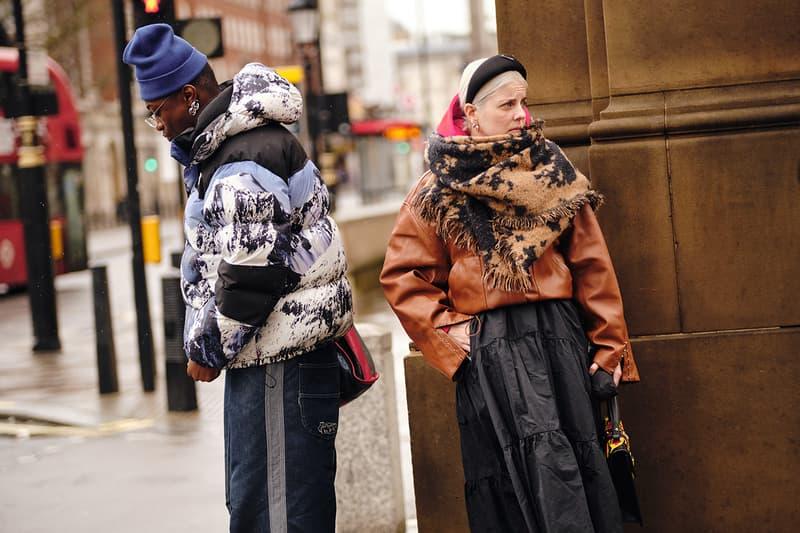Street Style London Fashion Week Fall Winter 2020 puffer jacket headband