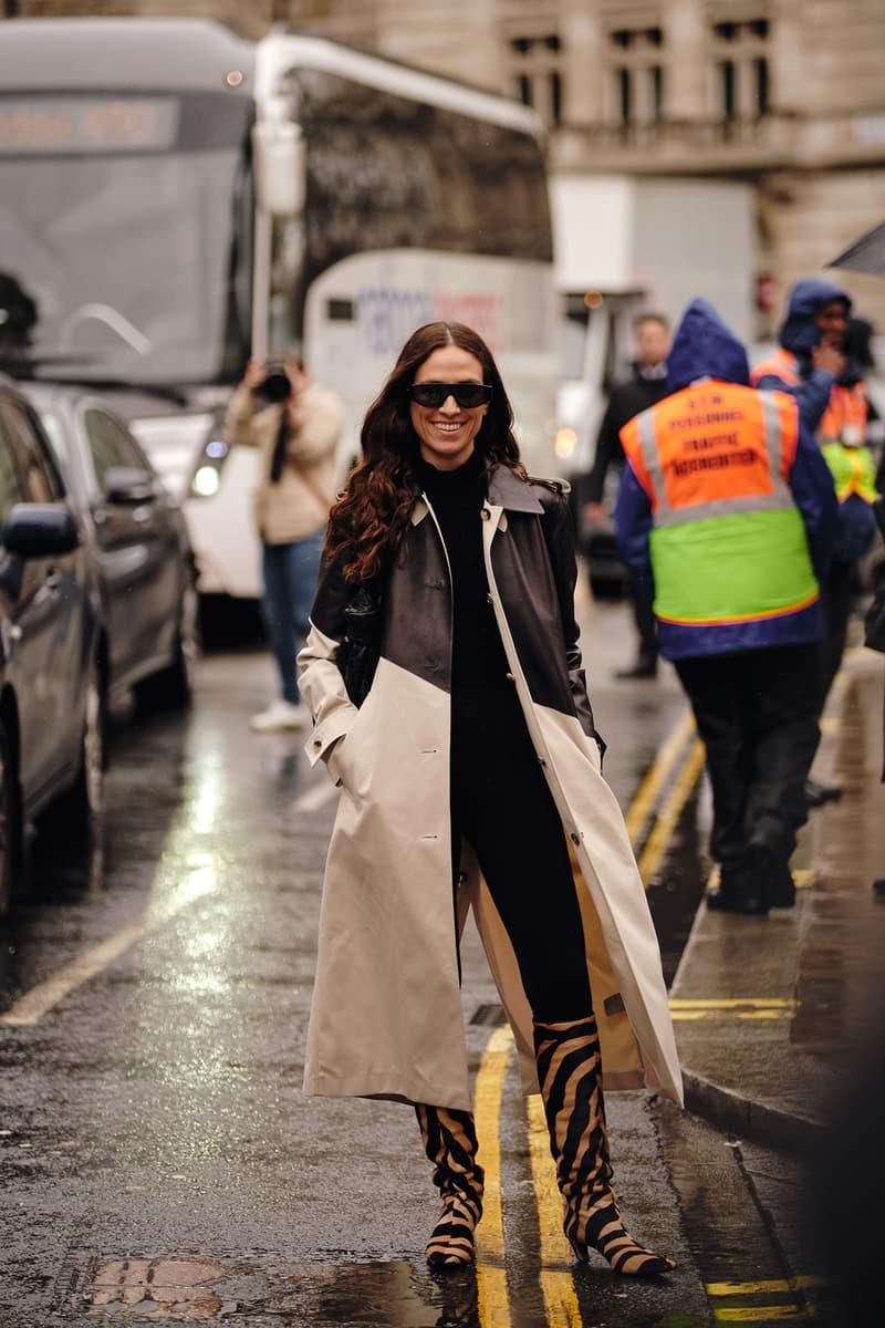 Street Style London Fashion Week Fall Winter 2020 animal print boots