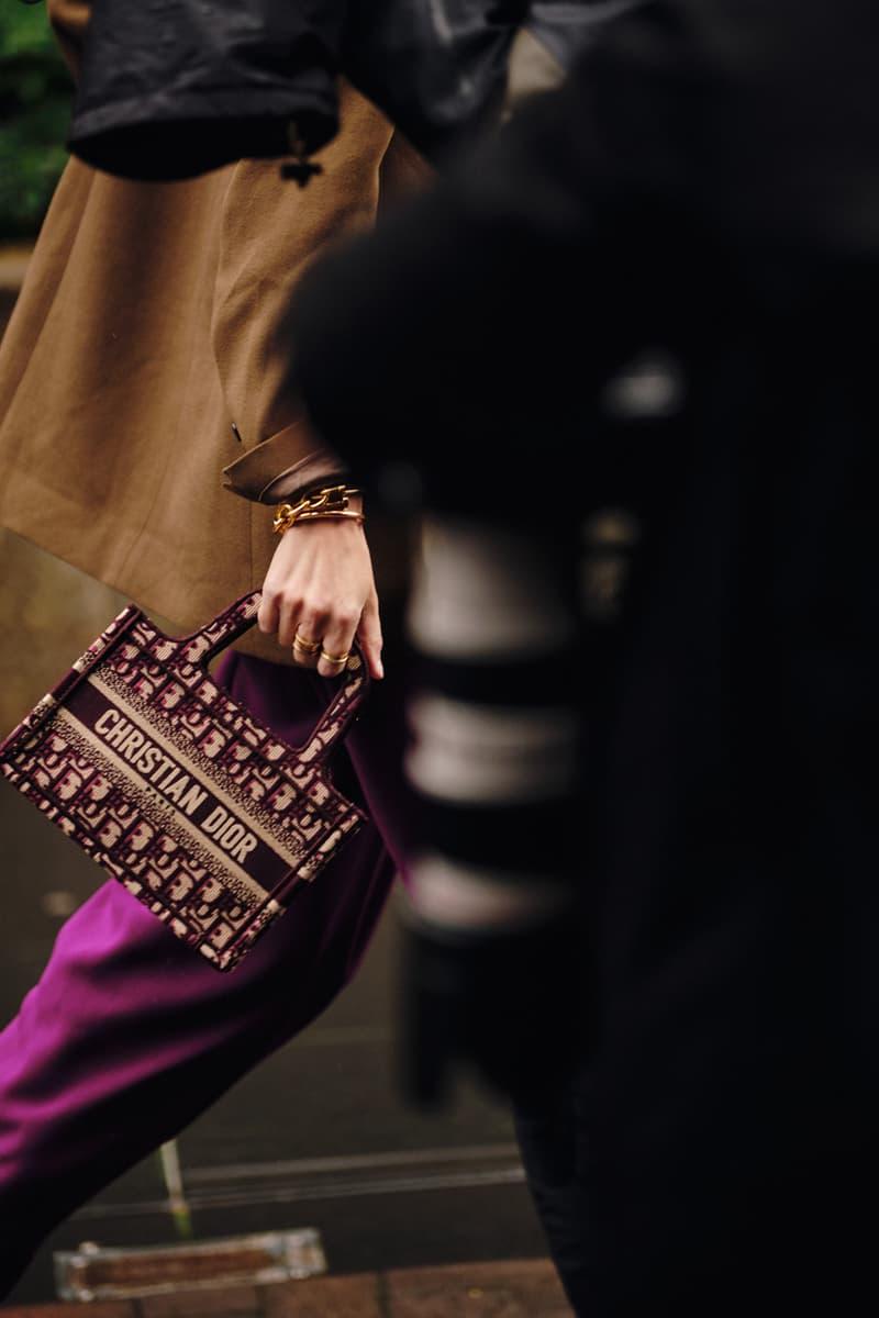 Street Style London Fashion Week Fall Winter 2020 Dior mini book tote