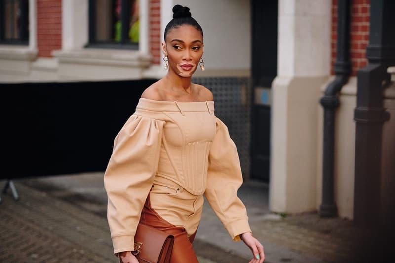 Winnie Harlow Burberry Fall Winter 2020 London Fashion Week Show