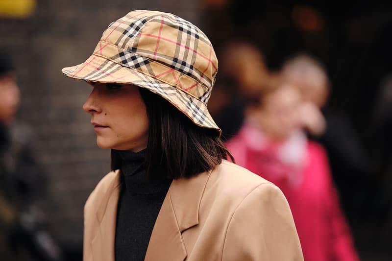 Street Style London Fashion Week Fall Winter 2020 burberry bucket hat