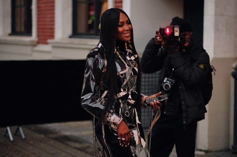Naomi Campbell Burberry Fall Winter 2020 London Fashion Week Show