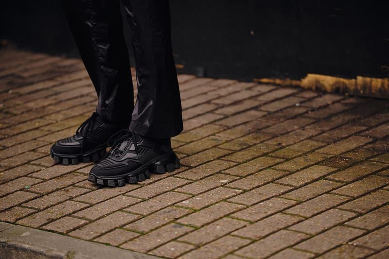 Street Style London Fashion Week Fall Winter 2020 prada sneaker black