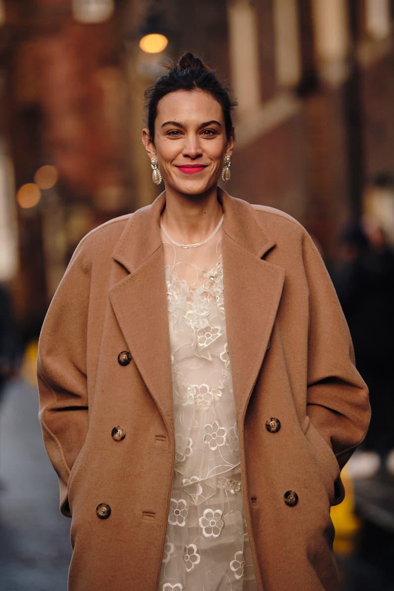 Alexa Chung Simone Rocha Fall Winter 2020 London Fashion Week Show