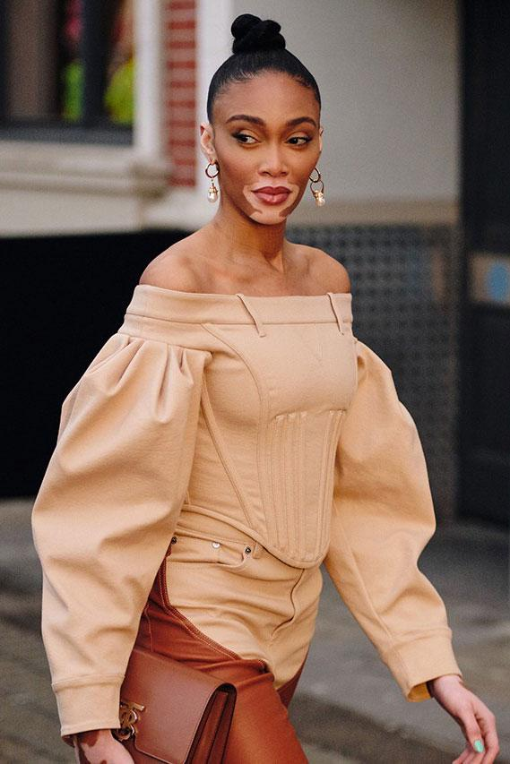 london fashion week fw20 celebrities winnie harlow