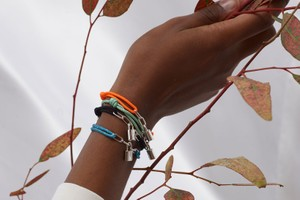 Picture of Louis Vuitton Continues Its UNICEF Partnership With Silver Lockit Bracelets by Virgil Abloh