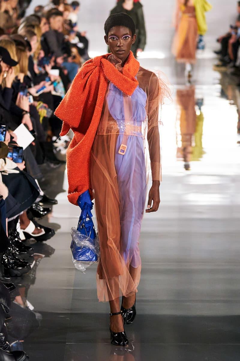 Maison Margiela Fall/Winter 2020 Collection Runway Show Sheer Dress Purple