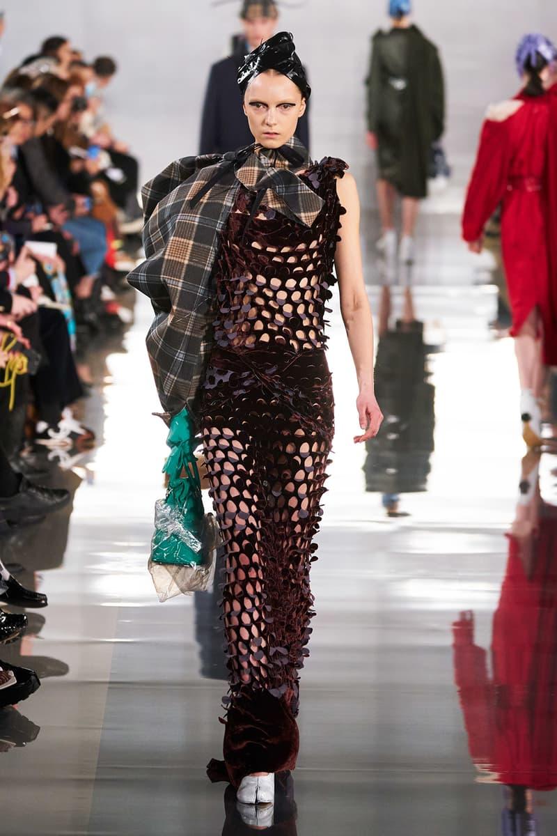 Maison Margiela Fall/Winter 2020 Collection Runway Show Mesh Dress