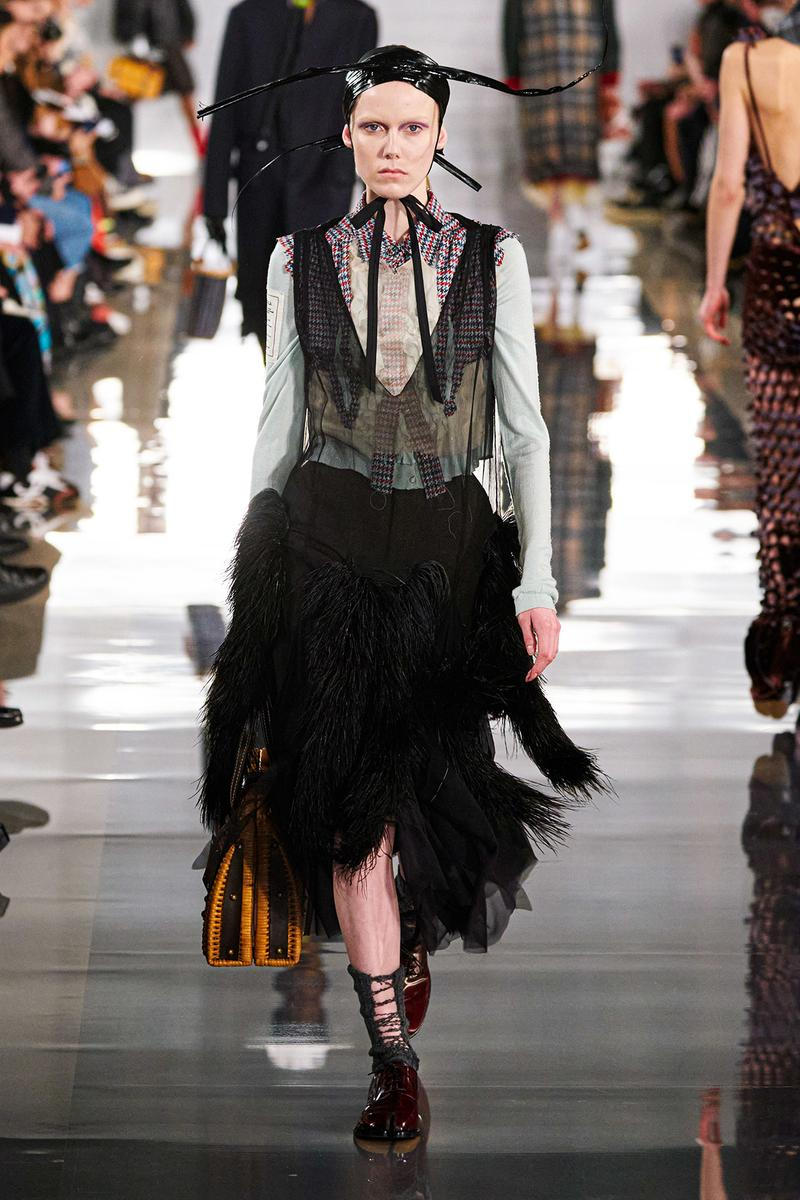 Maison Margiela Fall/Winter 2020 Collection Runway Show Tulle Skirt Black