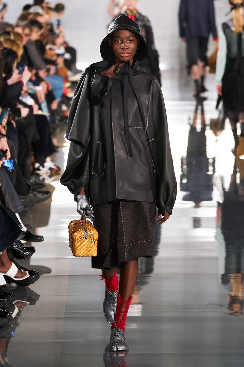 Maison Margiela Fall/Winter 2020 Collection Runway Show Coat Black