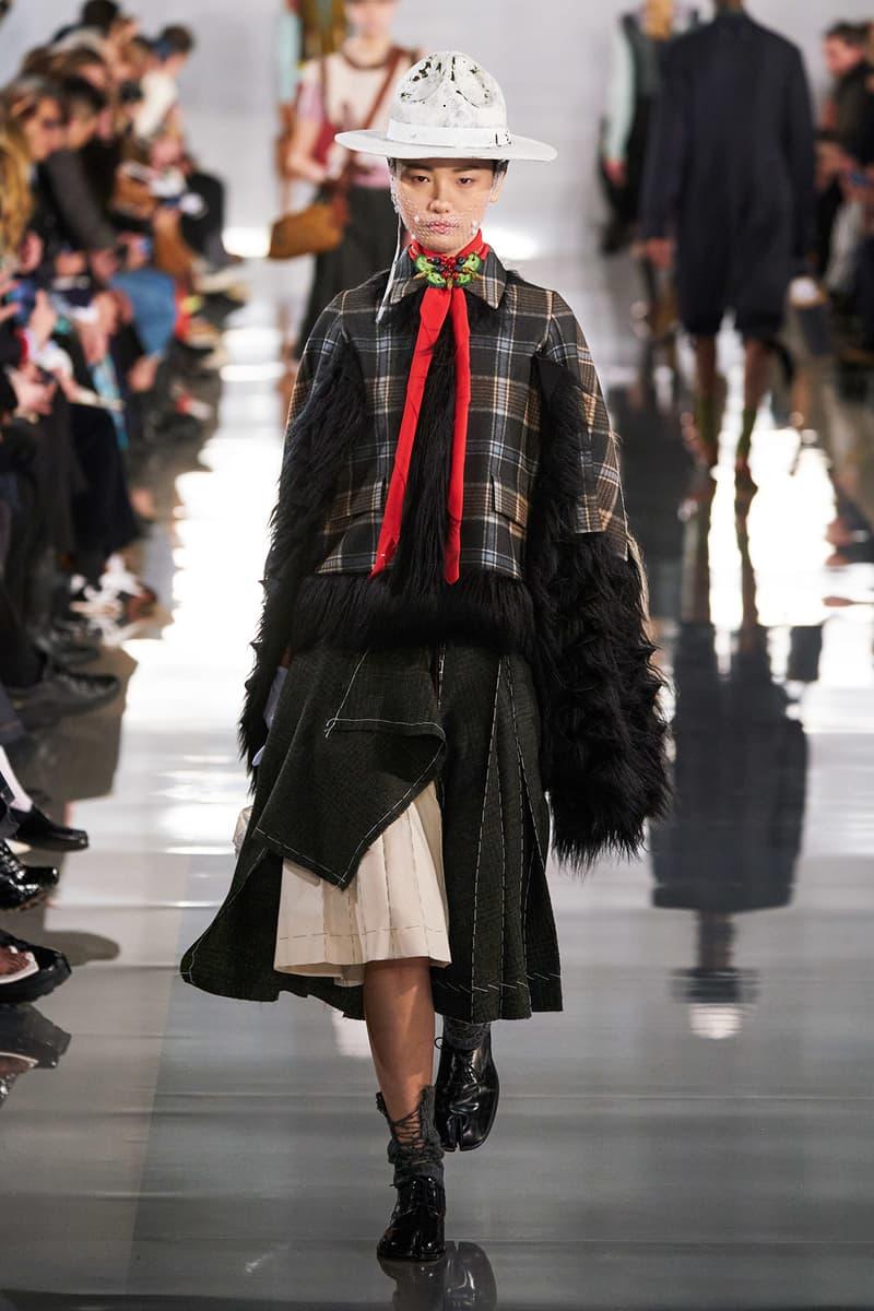 Maison Margiela Fall/Winter 2020 Collection Runway Show Plaid Coat