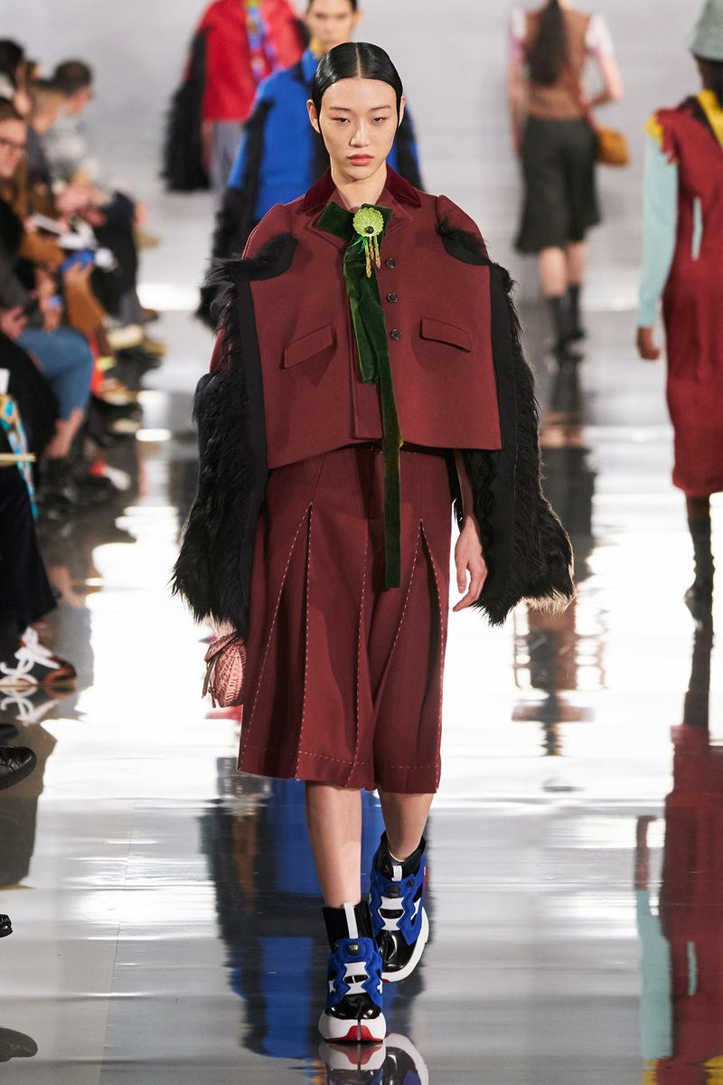 Maison Margiela Fall/Winter 2020 Collection Runway Show Jacket Skirt Orange