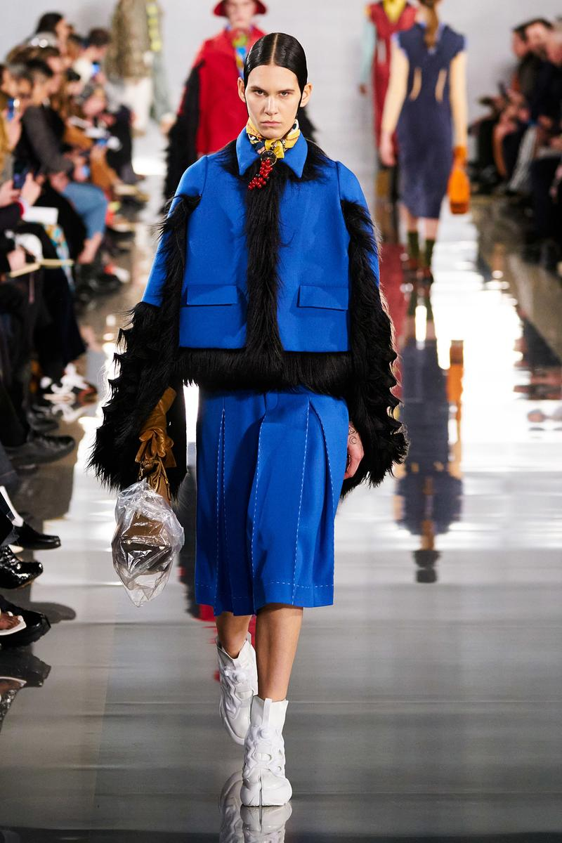 Maison Margiela Fall/Winter 2020 Collection Runway Show Jacket Skirt Blue