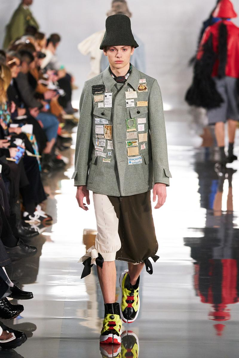 Maison Margiela Fall/Winter 2020 Collection Runway Show Coat Patches