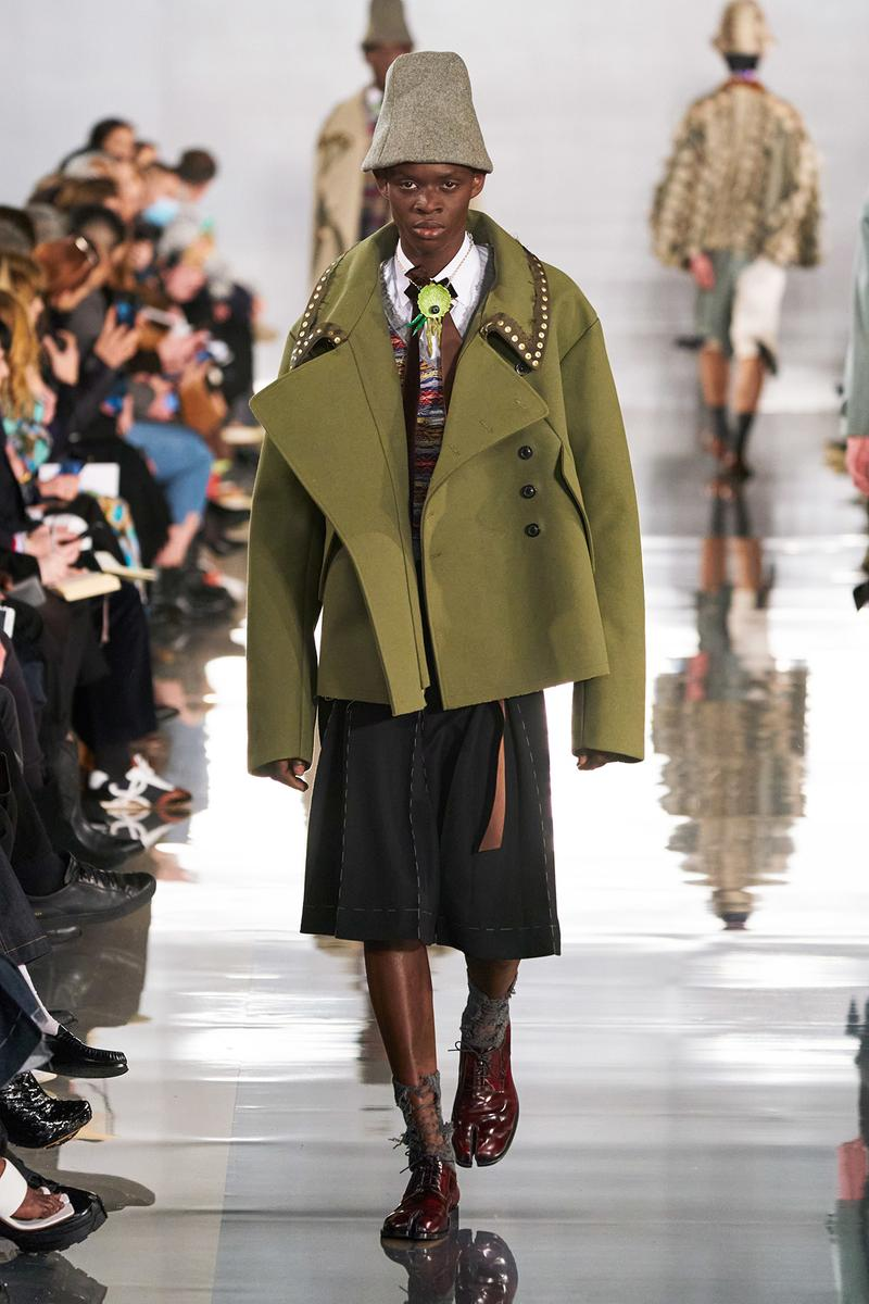 Maison Margiela Fall/Winter 2020 Collection Runway Show Coat Green