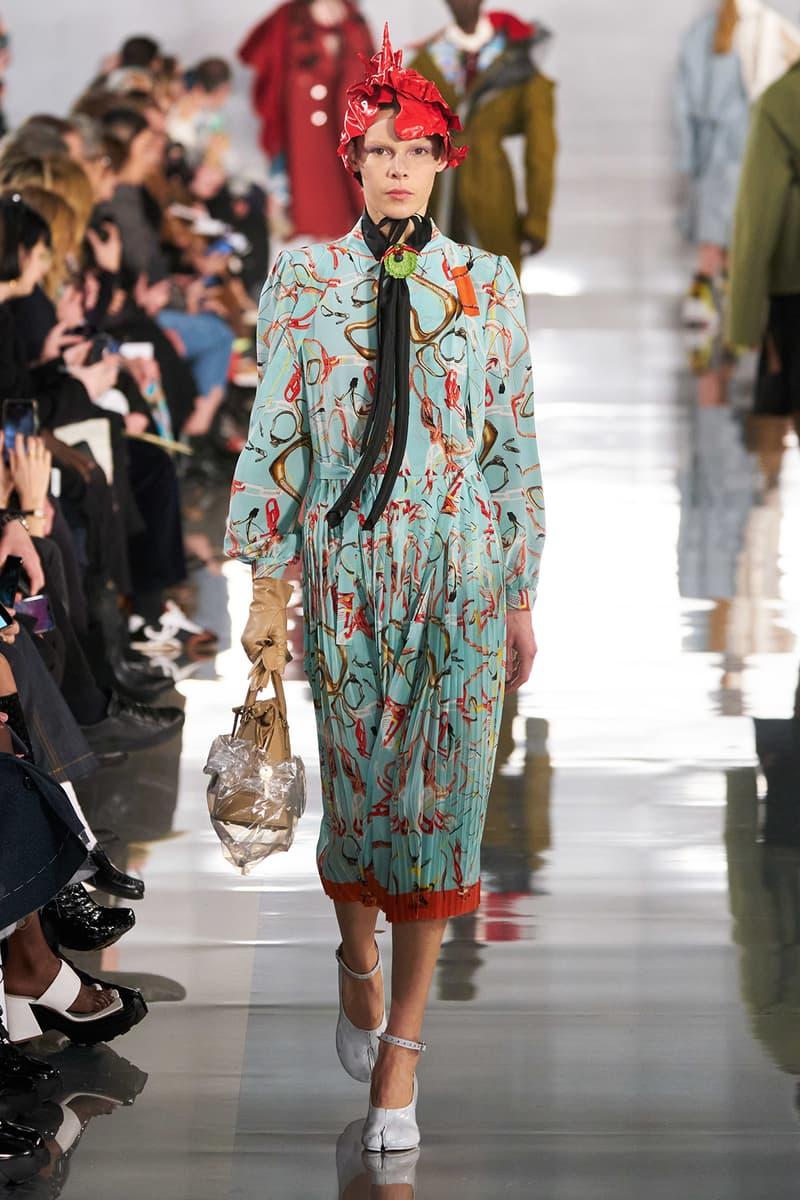 Maison Margiela Fall/Winter 2020 Collection Runway Show Print Dress