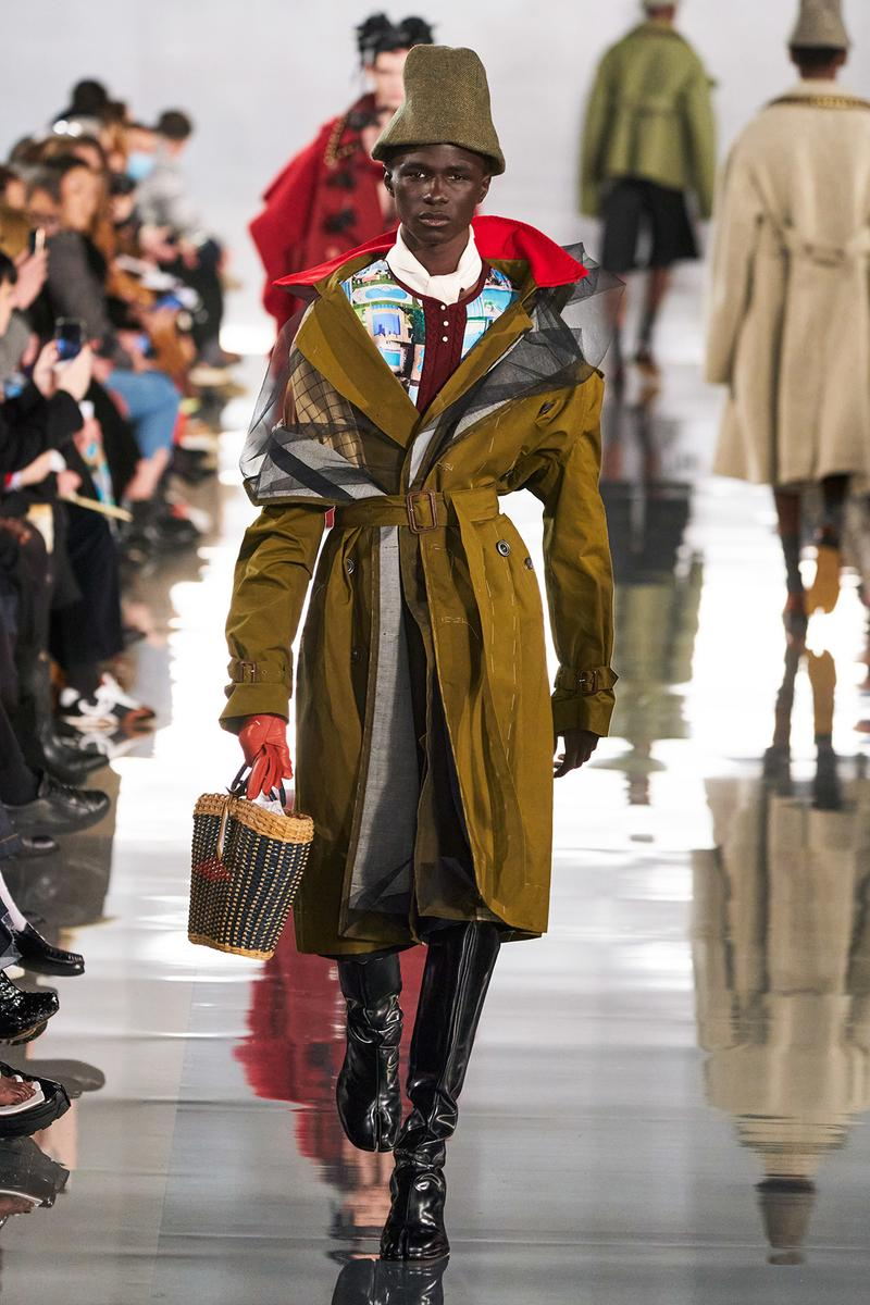 Maison Margiela Fall/Winter 2020 Collection Runway Show Coat Brown