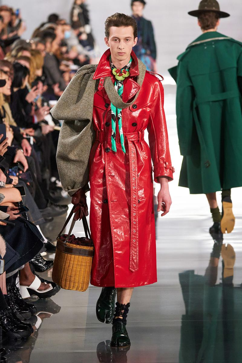 Maison Margiela Fall/Winter 2020 Collection Runway Show Coat Red