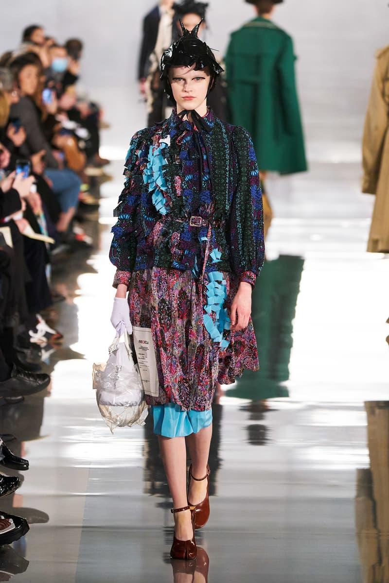 Maison Margiela Fall/Winter 2020 Collection Runway Show Dress Floral