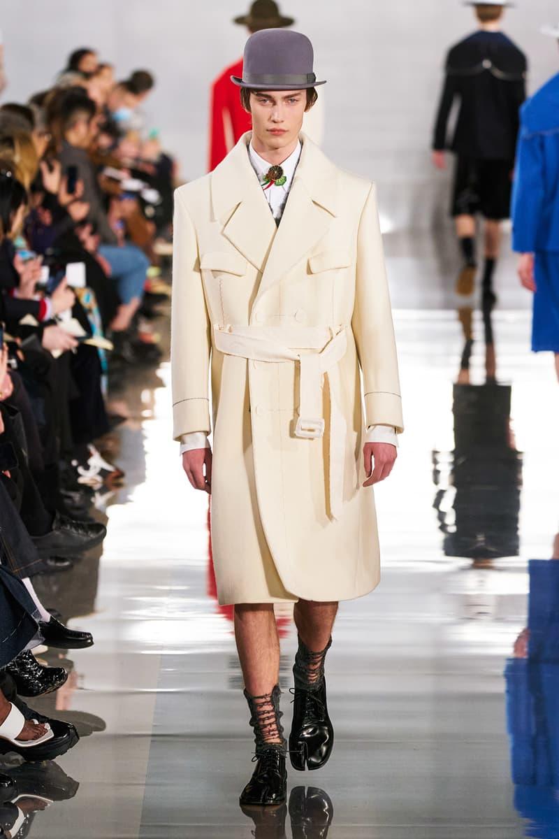 Maison Margiela Fall/Winter 2020 Collection Runway Show Coat White Cream