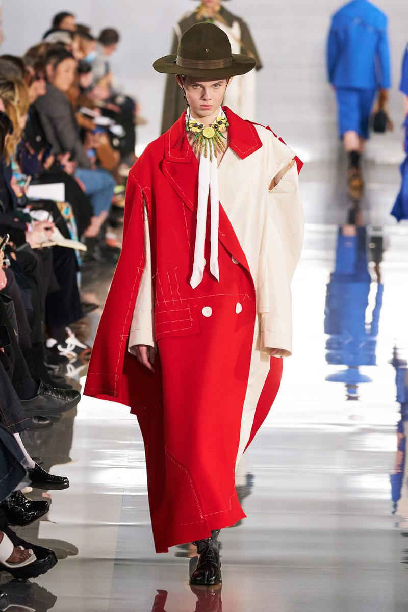 Maison Margiela Fall/Winter 2020 Collection Runway Show Coat Red Cream