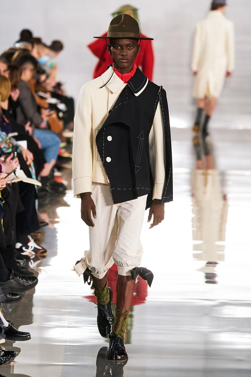 Maison Margiela Fall/Winter 2020 Collection Runway Show Jacket Black Cream