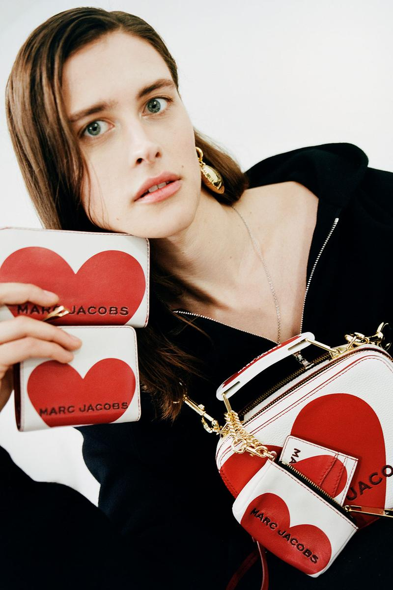 marc jacobs valentines day heart mini box designer bags wallets peanuts