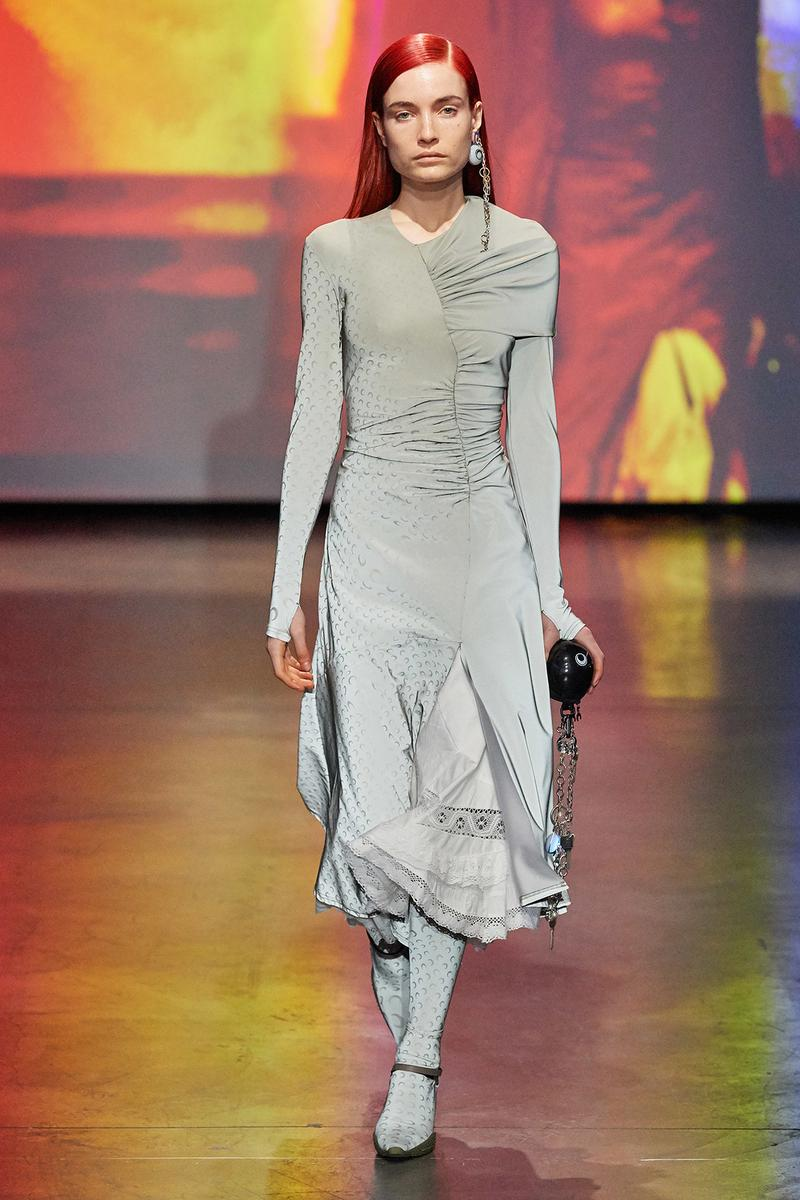 Marine Serre Fall/Winter 2020 Collection Runway Show Dress Grey