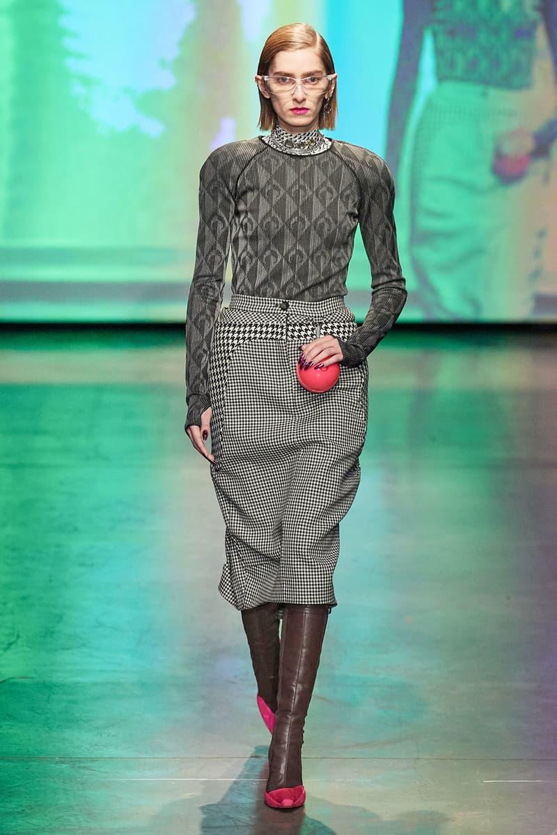 Marine Serre Fall/Winter 2020 Collection Runway Show Sweater Skirt Grey