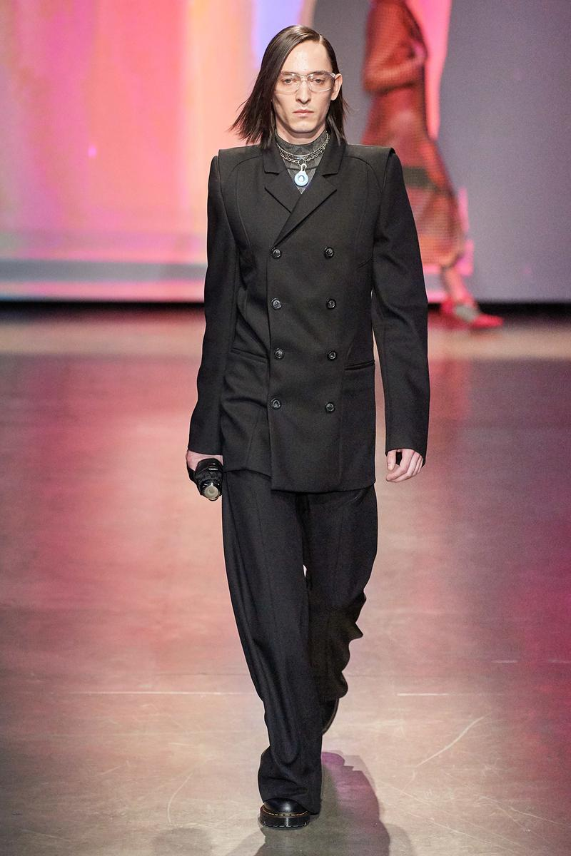 Marine Serre Fall/Winter 2020 Collection Runway Show Suit Black
