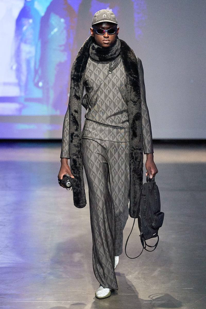 Marine Serre Fall/Winter 2020 Collection Runway Show Sweater Pants Grey