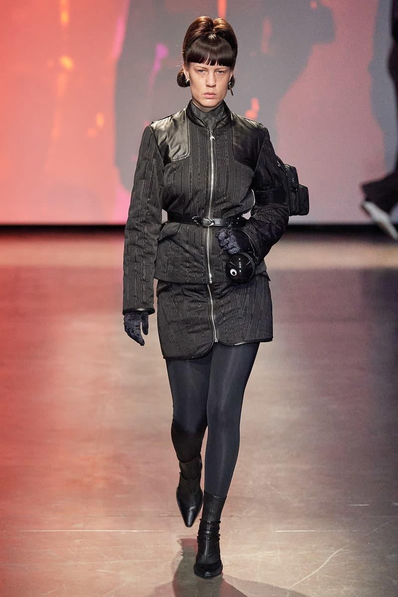 Marine Serre Fall/Winter 2020 Collection Runway Show Jacket Black