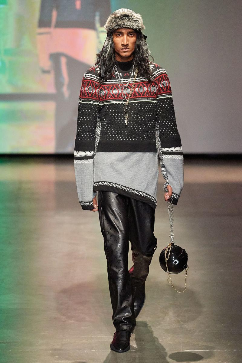 Marine Serre Fall/Winter 2020 Collection Runway Show Sweater Knit