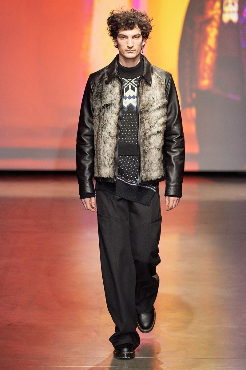 Marine Serre Fall/Winter 2020 Collection Runway Show Jacket Fur Leather