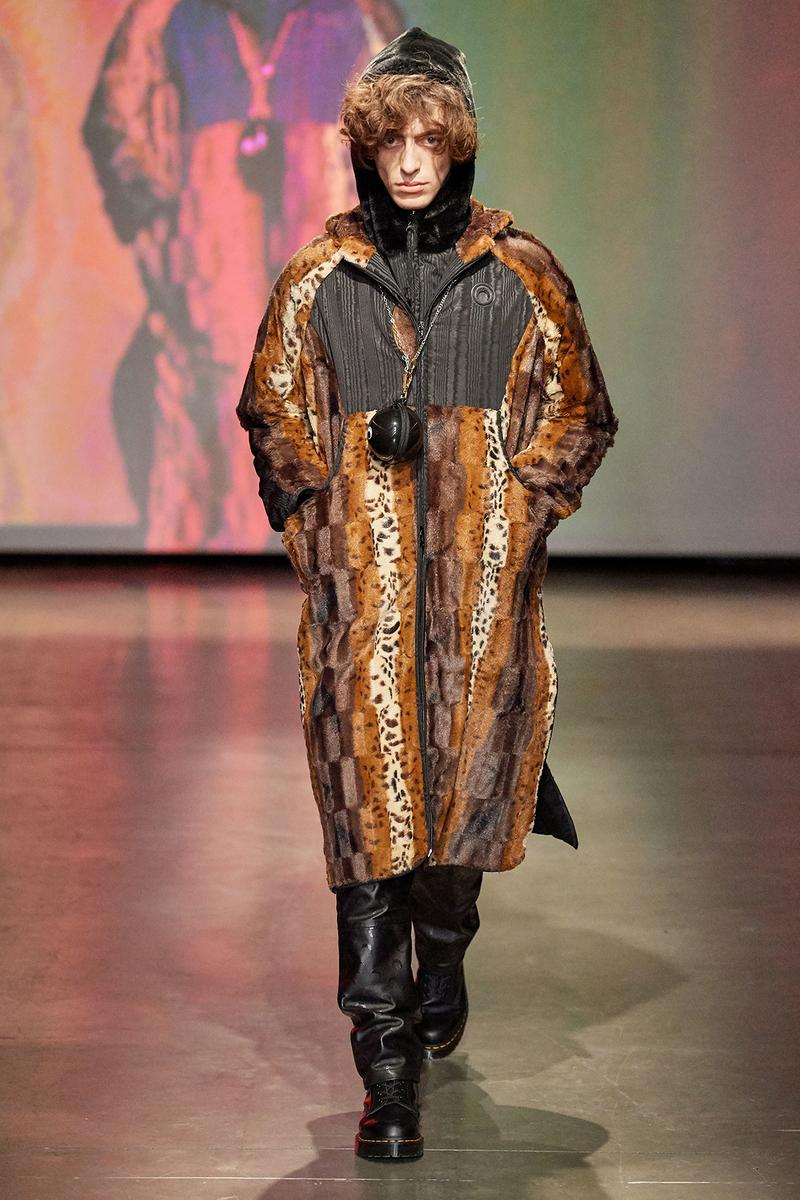 Marine Serre Fall/Winter 2020 Collection Runway Show Coat Fur Print